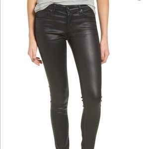 AG Leatherette The Ankle Skinny Jeans
